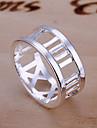 (1 Pc)Sweet Women's Silver Copper Ring(size 8#)