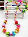 Красочный комплект ювелирных изделий, для девочек (ожерелье и браслет) (случайный цвет)
