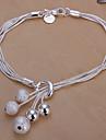серебряный медный браслет шарма сладкой 20см женщин (серебро) (1 шт) ювелирные изделия