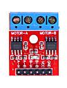 módulo de driver de motor h-bridge l9110 dual-channel para (para arduino) - vermelho