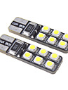 T10 Car Light Bulbs 1.2W SMD 3528 15lm 12 LED Exterior Lights For universal