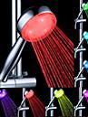Fluxo de Água Geração de Energia Color Changing LED ABS chuveiro de mão
