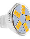 LED Spotlight MR11 15 leds SMD 5630 Warm White 450lm 2500-3500K DC 12V
