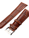 Unisex 26mm Craquelure Grain Leather Watch Band (Brown) Cool Watch Unique Watch Fashion Watch