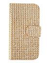 Modèle de pochette en cuir PU avec boucle et carte magnétique fente Shell pour Samsung Galaxy S4 I9500/I9505 (Gold)