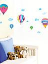 šareni balon požara i bijeli oblak obrazac spavaća pvc DIY tapete (1 kom)