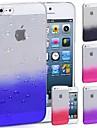 아이폰 5/5S를위한 특별한 디자인 물 하락 패턴 투명 하드 케이스