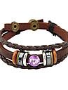 Женский Wrap Браслеты Кожаные браслеты Уникальный дизайн Фольклорный стиль бижутерия Мода Кожа Сплав Бижутерия Бижутерия Назначение Для