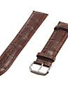 Unisex 22mm bambou grain cuir véritable bande de montre (couleurs assorties)