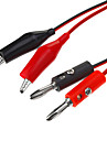 Plugue Banana ao clipe jacare Probe Teste Cabo Chumbo Red & Black (1m / 5pcs)