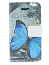 Blue butterfly Pattern PU Leather Full Body Case For iPhone 7 7 Plus 6s 6 Plus SE 5s 5c 5 4s 4