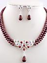 Bijoux Colliers décoratifs / Boucles d'oreille Mariage / Quotidien Alliage / Imitation de perle FemmeBlanc / Jaune / Rouge / Brun / Vert