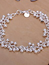 Sweet 19cm Women's Silver Alloy Bells-Shaped Charm Bracelet(1 Pc)