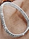 Cristal Row argent plaqué 2 cheville Bracelet de cheville