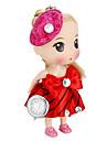 Женская Кукла Форма брелок часы (красный)
