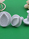Rose Leaf Pattern Cake and Cookies Cutter Mold (3 PCS)