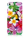 Morning Glory Pattern Silicone Soft  Case for iPhone 4/4S