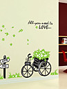 1PCS Colorful Removable Bicycle with Flower Wall Sticker