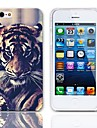 Tiger De olho Projeto Hard Case com protetores de tela de 3-Pack para iPhone 5/5S