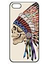 Дело индийских шаблон черепа пластичная трудная для iPhone 5/5S