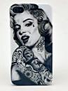 Dure de cas modèle de tatouage de fille pour l'iPhone 4/4S