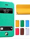Чехол-флип кожаный с подставкой для iPhone 4/4S (цвета в ассортименте)