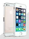 Pour Coque iPhone 5 Antichoc Coque Antichoc Coque Couleur Pleine Dur Metal pour iPhone SE/5s/5