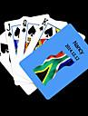 Персонализированные подарков Синий Южная Африка флаг шаблон игральных карт