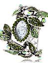 여자의 보헤미아 작풍 녹색 수정 같은 잎 스타일은 합금 석영 팔찌 시계