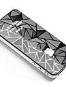 Teste padrão fresco Rhombus Frente & Verso Etiqueta corpo para iPhone 4/4S
