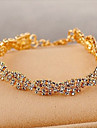 Men\'s Crystal Tennis Bracelet - Crystal, Rhinestone, Gold Plated Unique Design, Fashion Bracelet Golden For Party / Daily / Casual