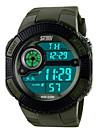 Homme Montre numérique Montre de Sport Quartz Numérique Quartz Japonais Alarme Calendrier Chronographe Etanche LED Polyuréthane Bande