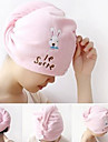 Cartoon Rabbit/Elephant Pattern Hair-drying Cap(Random Color)