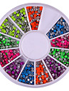 2mm couleur melangee Rondeur Rivet Decorations Nail Art