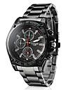 Men\'s Wrist Watch Casual Watch Alloy Band Charm / Racing Black