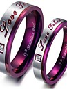 Women\'s Couple Rings Purple Titanium Steel Fashion Party Daily Casual Costume Jewelry