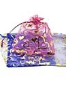 (Couleur aléatoire) de mousseline de soie Hot Love or Fils Accessoires Bag poche sac de bijoux Beam (1pc)