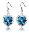 Women's Drop Earrings - Heart Blue For Daily / Casual