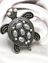 Alliage d'anneaux de l'Énoncé de tortue européennes Forme femmes (argent, bronze) (1 PC)