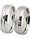 Fashion Lovers Stainless Steel Contracted Couple Rings (2 Pcs)