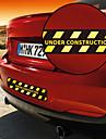 Under Construction Warning Pattern Decorative Car Sticker