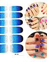 28PCS Glitter Gradient Ramp Nail Art Stickers M Series No.108