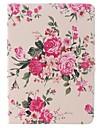 Fleur rose unité centrale de conception complète du corps de cas avec le stand pour iPad Air