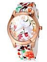 Женские Модные часы Кварцевый Группа Цветы Разноцветный бренд-