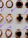 Beautiful Fashion Clovers Heart-shaped Circle Stud Earrings