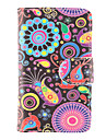 For Samsung Galaxy Case Wallet / Card Holder / with Stand / Flip / Pattern Case Full Body Case Flower PU Leather Samsung Trend Duos