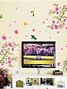Цветы Наклейки Простые наклейки Декоративные наклейки на стены, Винил Украшение дома Наклейка на стену Стена