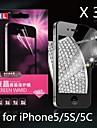 protetor de tela anti-radiação de diamante para iphone5/5s/5c (3pcs)