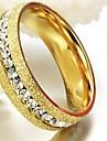 Single Row Drilling Gold Titanium Steel Man Pearl Sand Ring