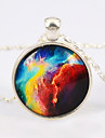 European Galaxy Fashion Univers Pattern Stone Pendant Necklace(1 Pc)